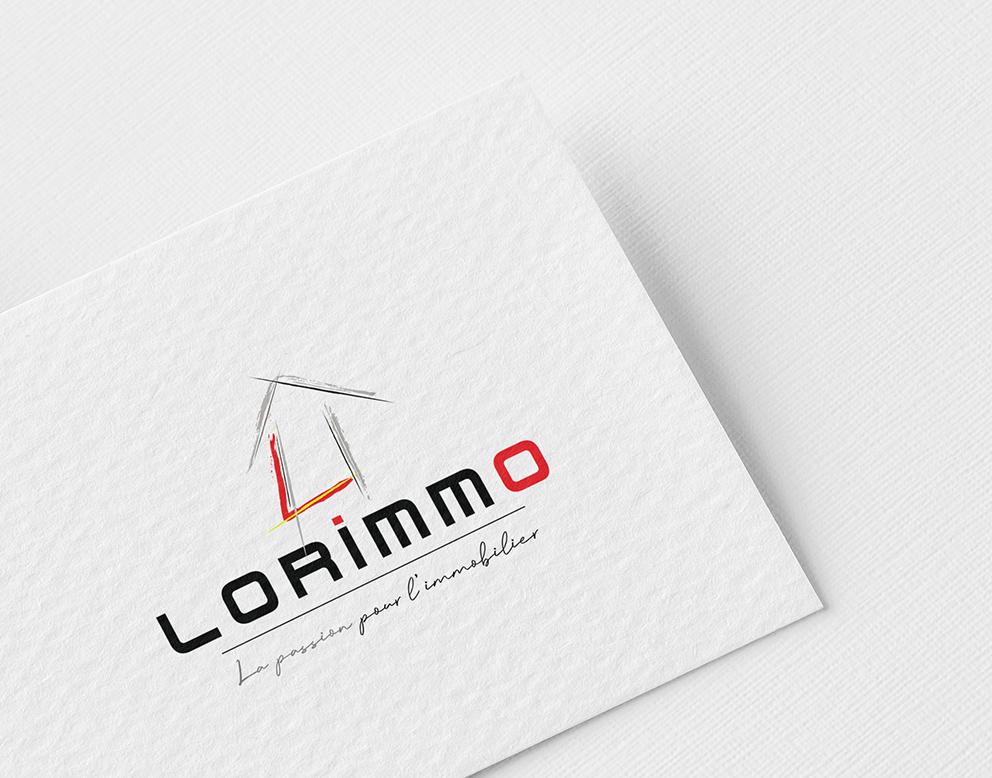 creation logo immobilier maison pinceau