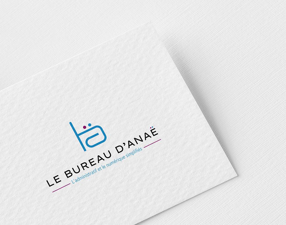 logo creation bureautique bleu