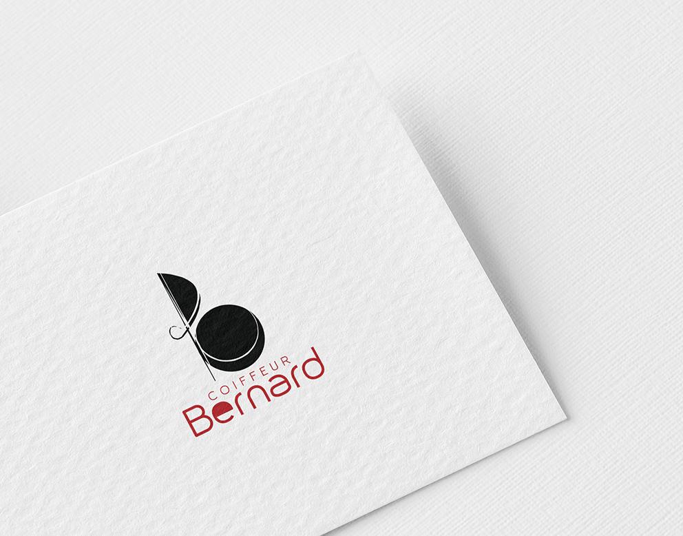 logo noir rouge coiffeur