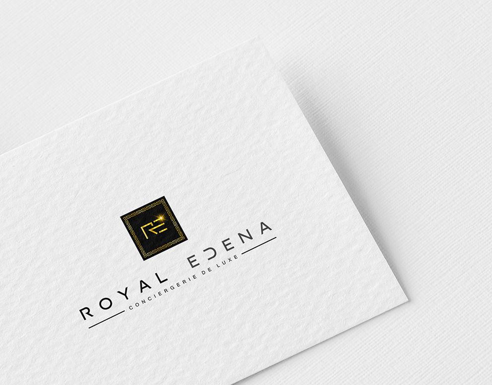 logo luxe conciergerie noir doré
