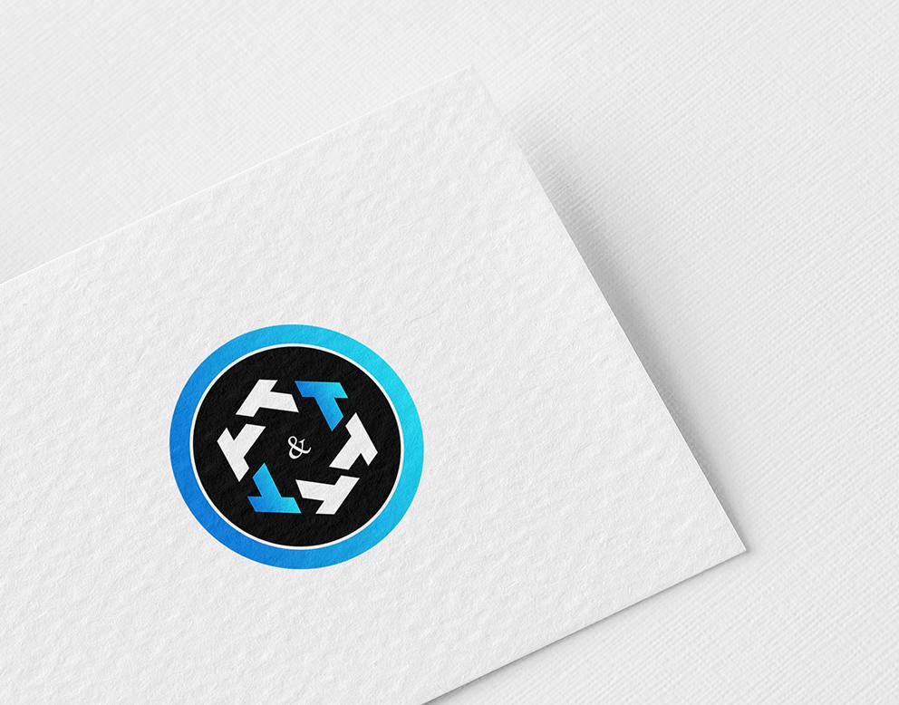 logo bleu noir crypto monnaie
