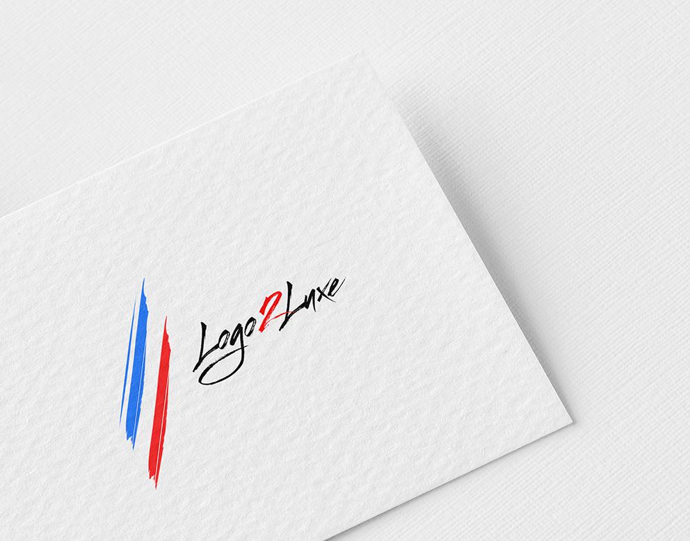 logo de luxe france bleu blanc rouge