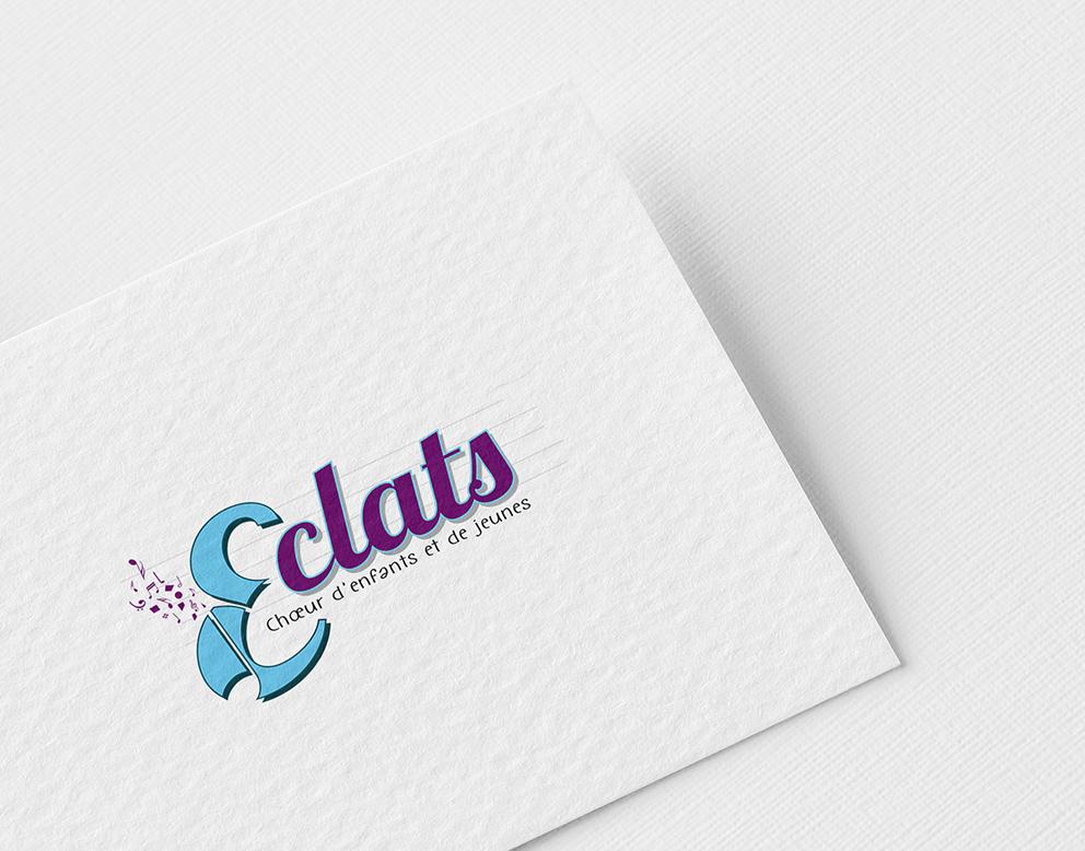 logo musique bleu violet enfant