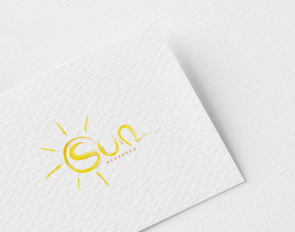 conception logo massage soleil peinture