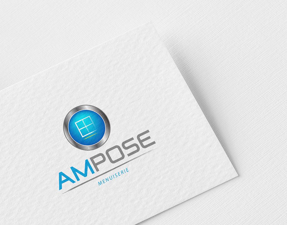 logo menuiserie métal bleu