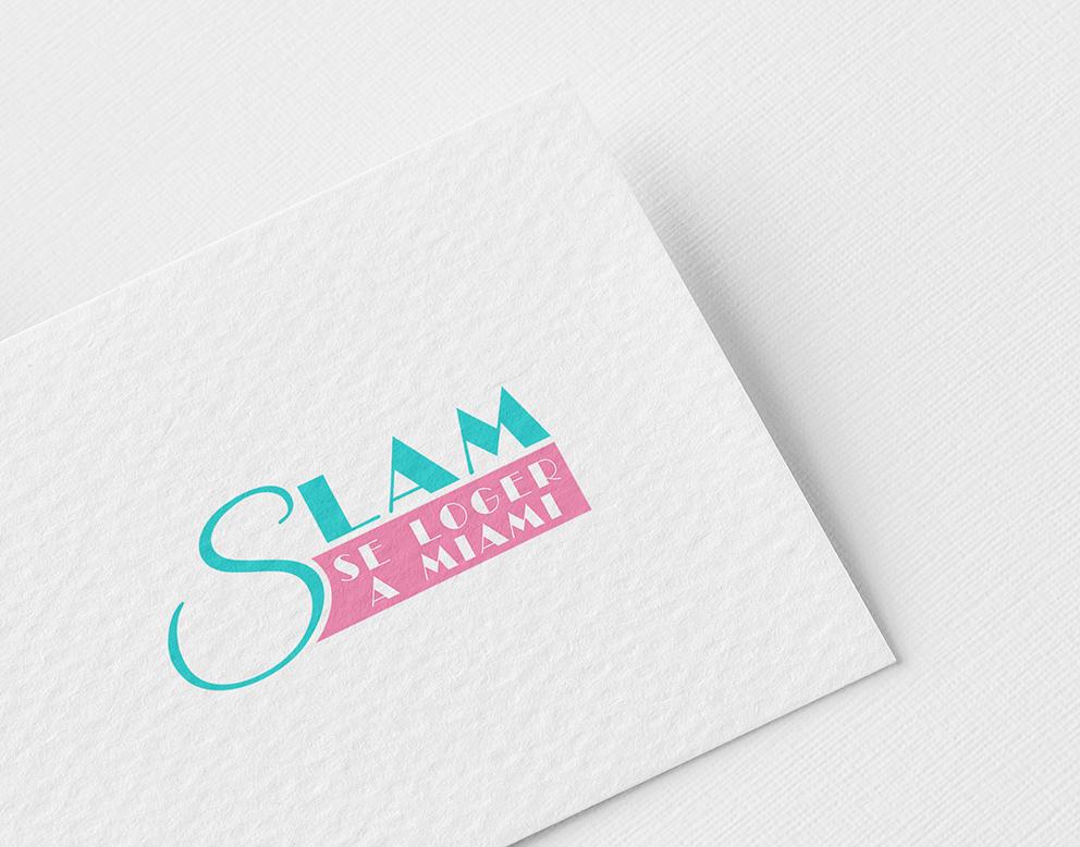 logo luxe miami turquoise rose