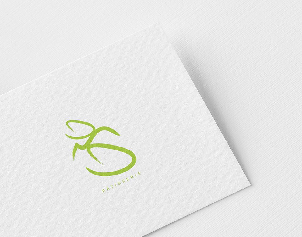 creation logo vert patisserie