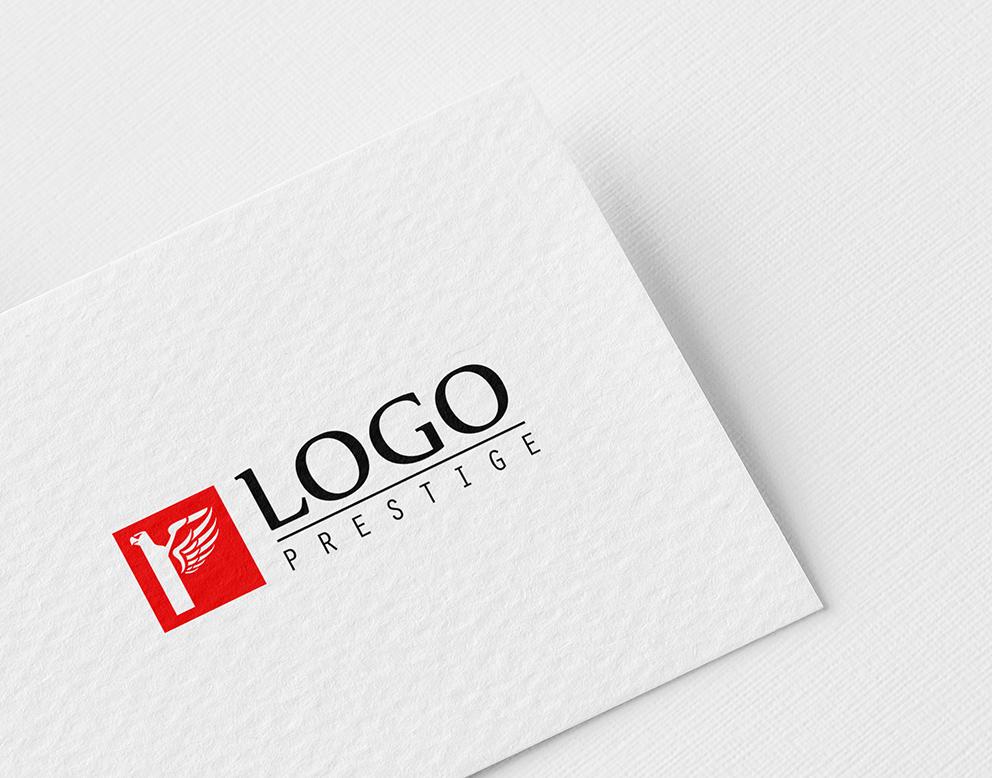 logo prestige rouge aigle