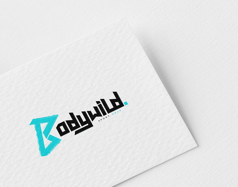 logo sport bodywild bleu noir
