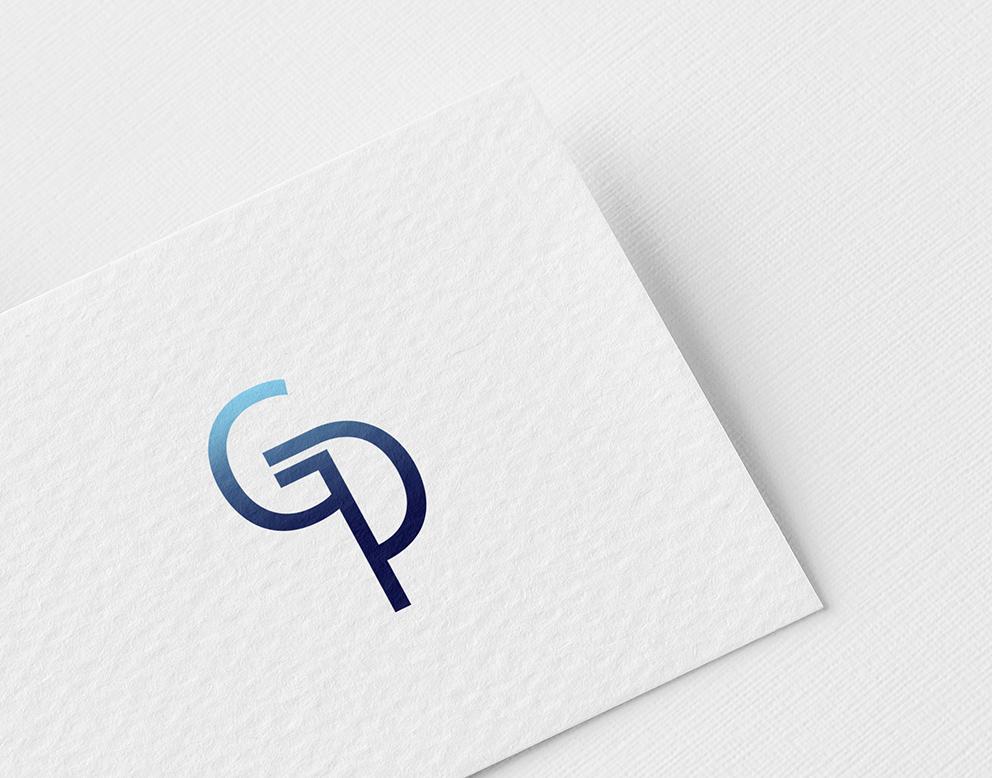 logo signature bleu dégradé