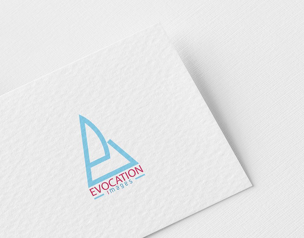 creation logo photographe bleu ciel rose