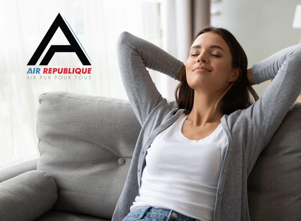 relax femme respire