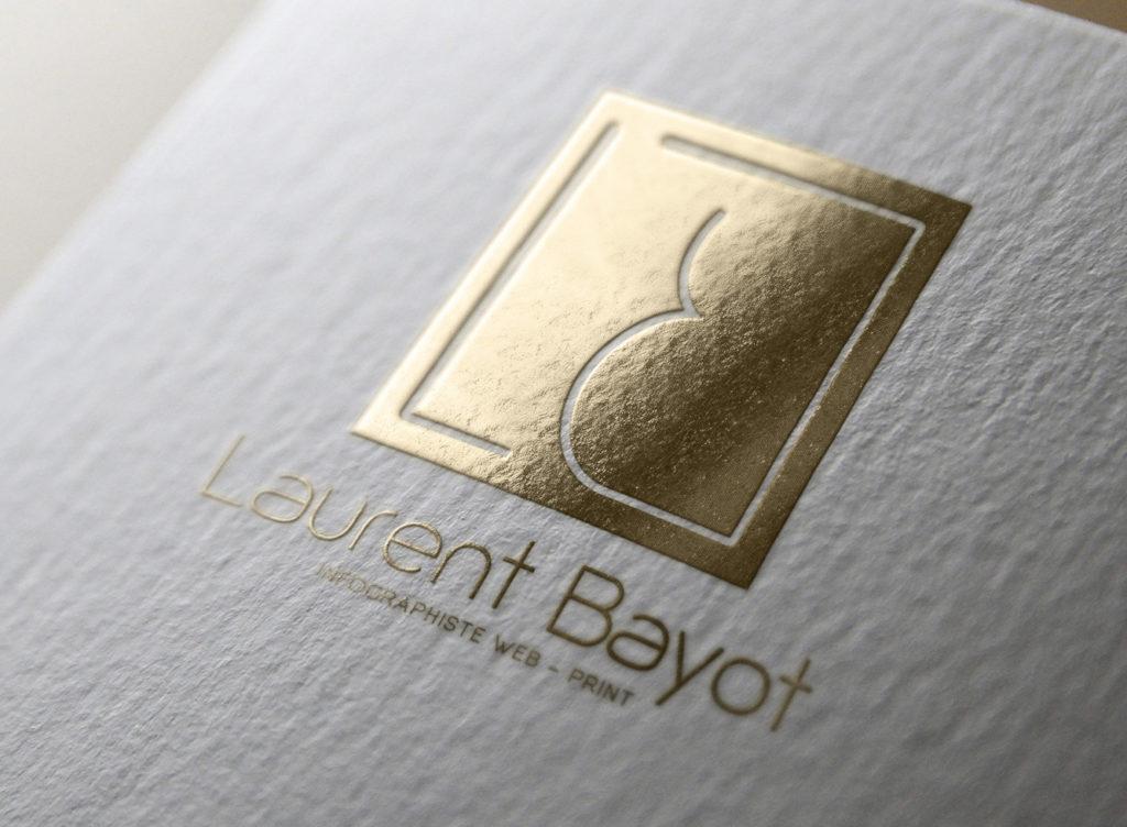 design logo or blanc