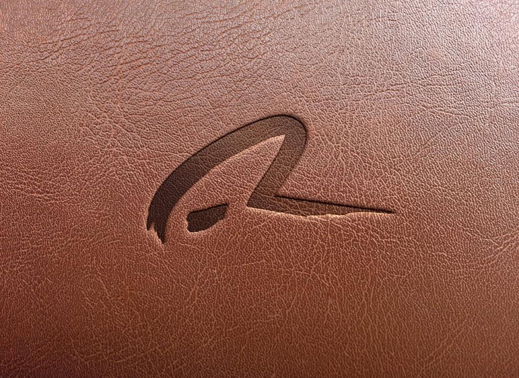 logo cuir graphiste