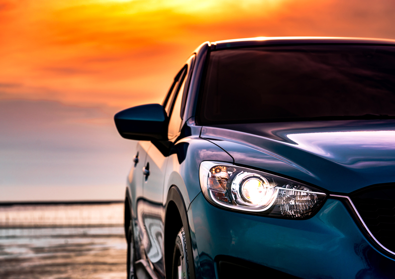 voiture luxe ciel horizon
